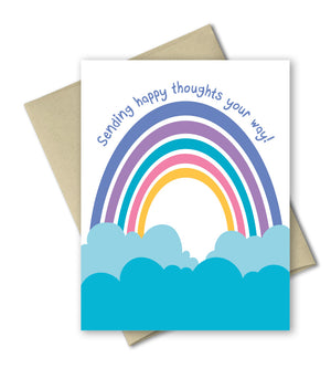 Thinking Of You Card - Sending Happy Thoughts - Rainbow Card