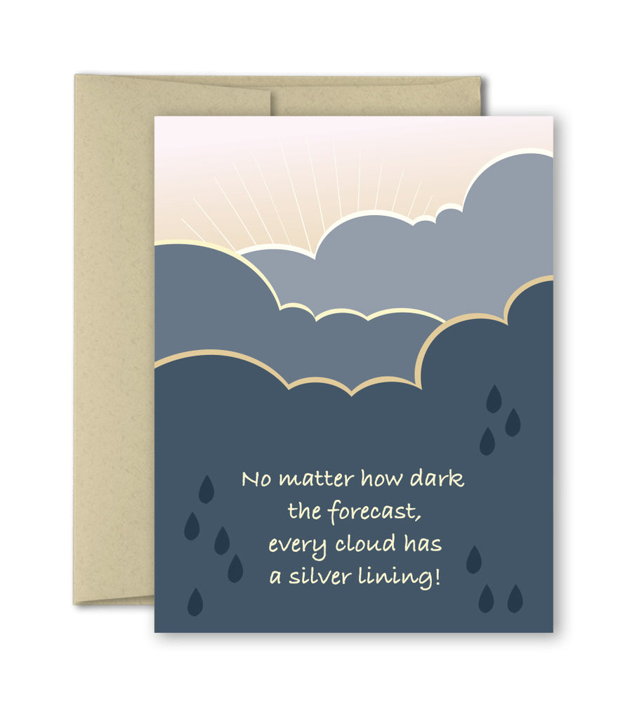 Thinking of You Card - Every Cloud has a Silver Lining