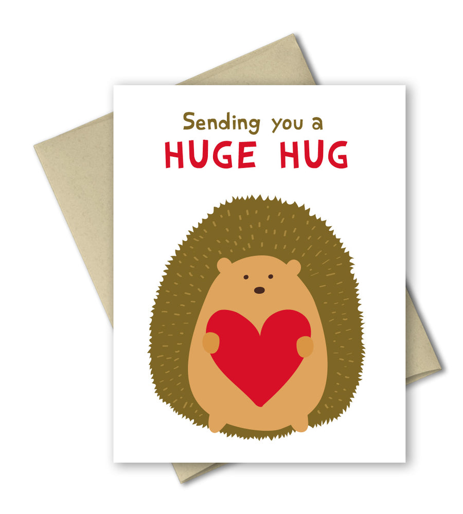 Sending a huge hug - Thinking of you card - Love Card