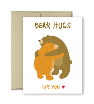 Thinking of You Card - Bear Hugs