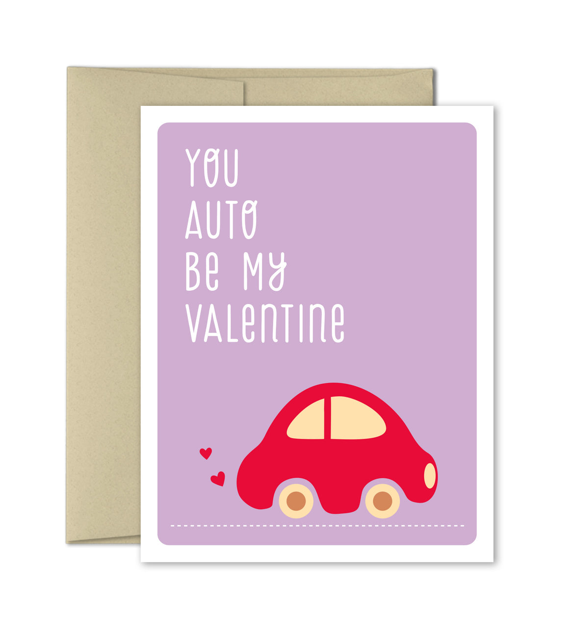 Valentines Card - Auto Be My Valentine - The Imagination Spot