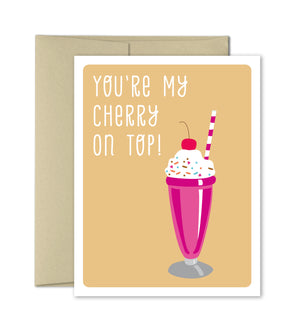 Love Greeting Card - Cherry on Top - Valentines Card - Anniversary Card - The Imagination Spot