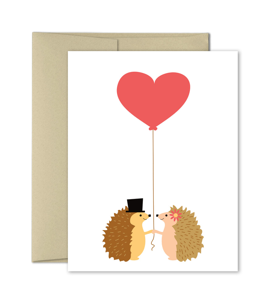 Love Anniversary Wedding Card - Hedgehogs - The Imagination Spot