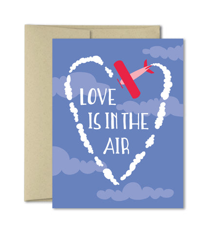 Love is in the air - Love Anniversary Valentines Card