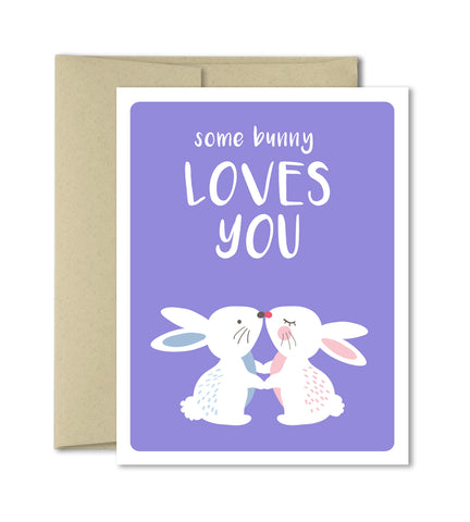 Cute Love Card - Some bunny loves you - Valentines Card