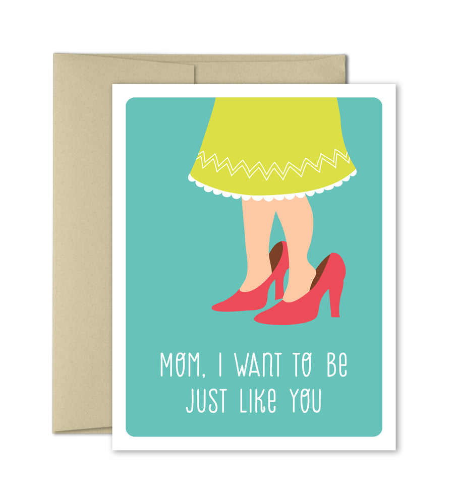 Mothers Day Card - Mom's Shoes - The Imagination Spot