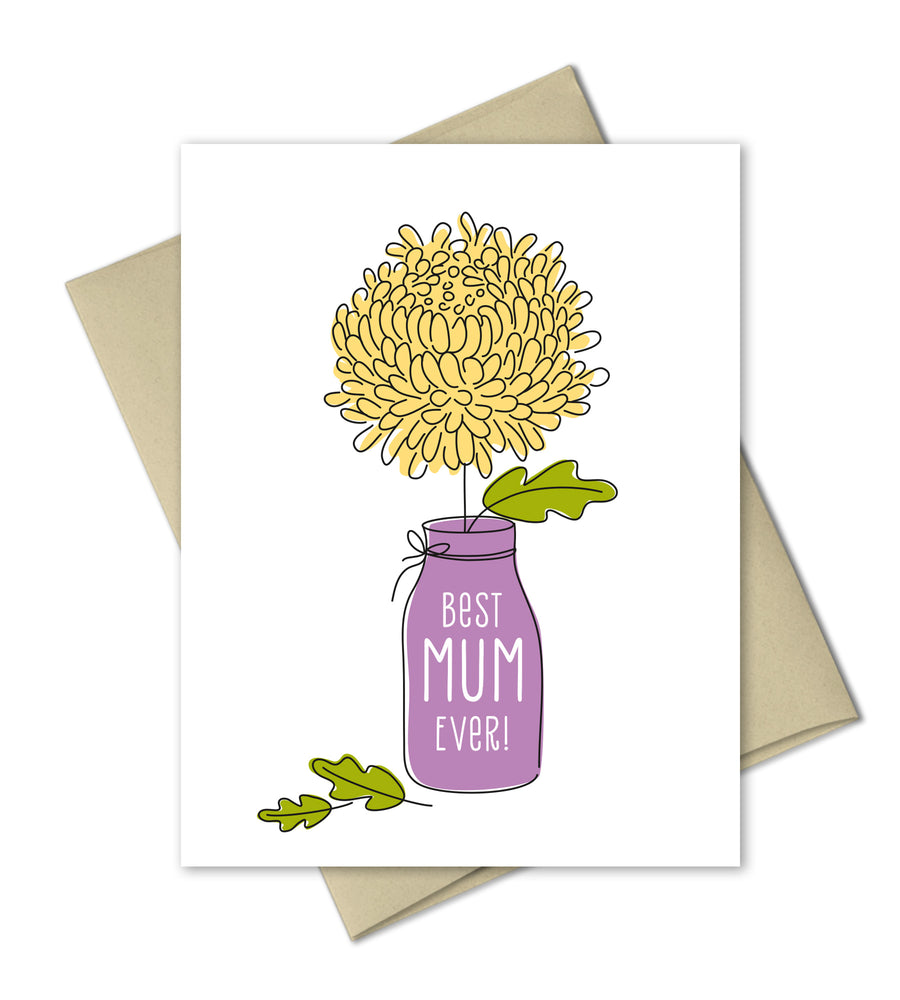 Best mum Ever - Mother's Day Card - The Imagination Spot