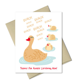 Quack Quack Mom - Mother's Day card