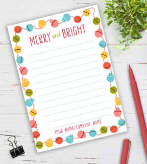 Personalized Notepad - Merry & Bright
