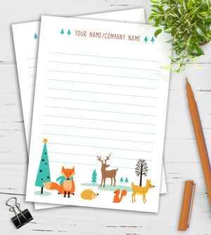 Personalized Notepad - Woodland