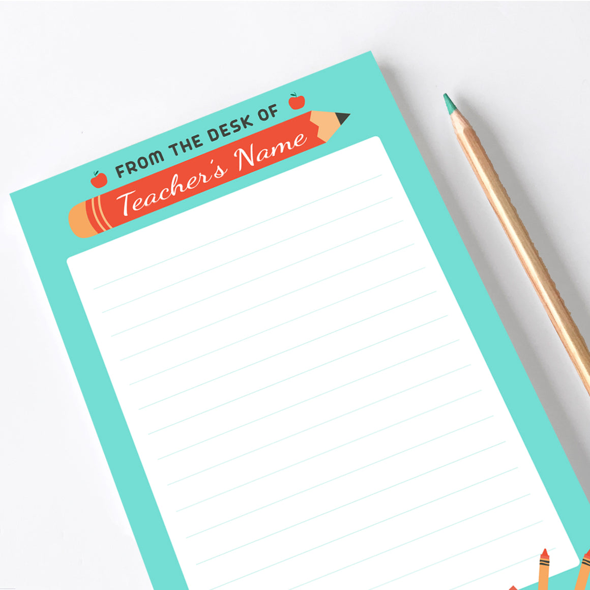 Personalized Notepad - Teacher Gift