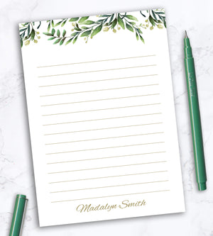 Personalized Notepad - French Garden