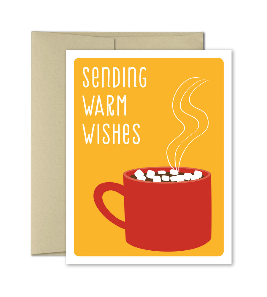 Christmas Greeting Card - Warm Wishes - The Imagination Spot