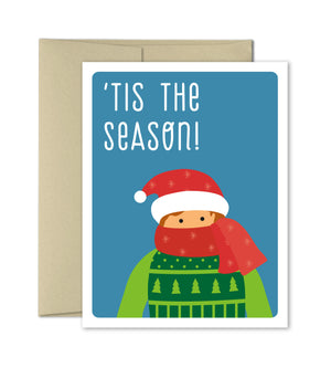 Cute Christmas Card - Bundle Up - Funny Holiday Card by The Imagination Spot