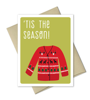 Funny Christmas Card - Ugly Sweater - The Imagination Spot
