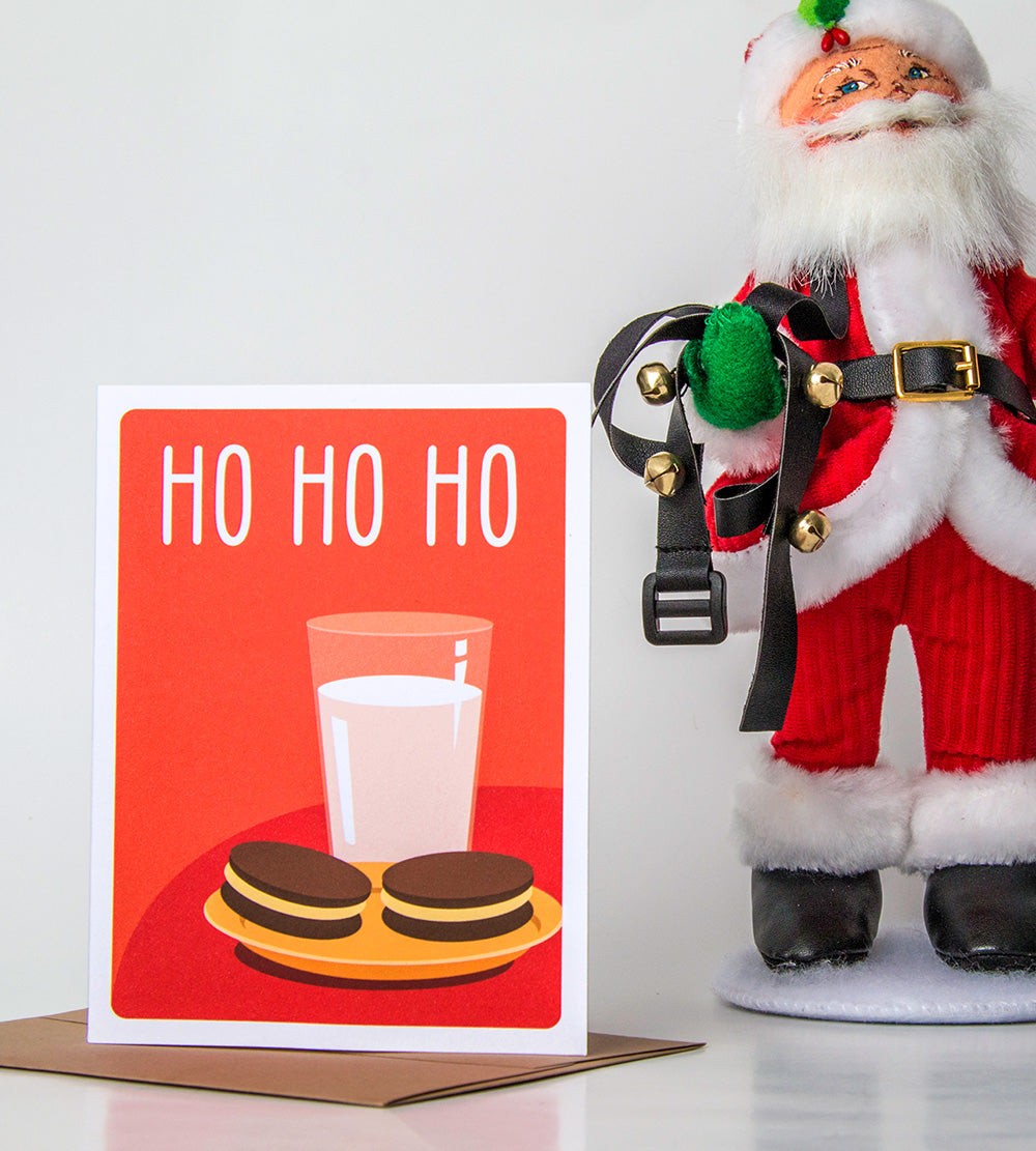 Cute Holiday Card - Ho Ho Ho - The Imagination Spot