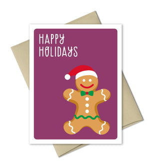 Cute Holiday Card - Gingerbread Boy - The Imagination Spot