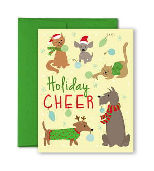 Christmas Cards - Pet friends - Pet Holiday Card by The Imagination Spot
