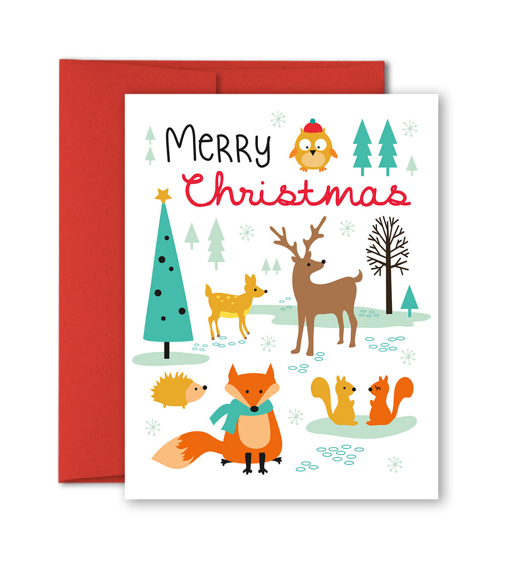 unique holiday cards woodland animals by the imagination spot - Animal Christmas Cards
