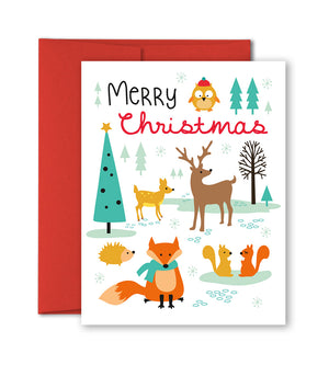 Unique Holiday Cards - Woodland animals by The Imagination Spot