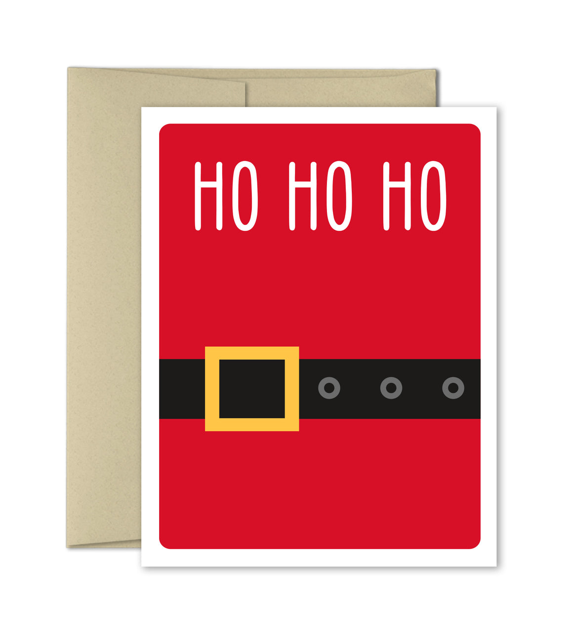 Christmas Card - Ho Ho Ho - Santa's Belt - The Imagination Spot