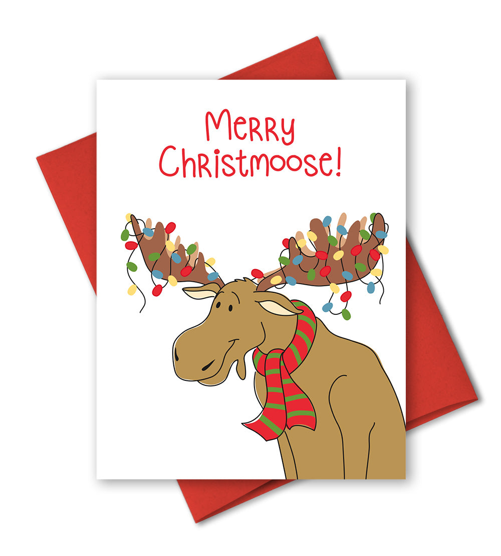 Humorous Christmas Cards.Funny Holiday Cards Merry Christmoose Humor Christmas Cards