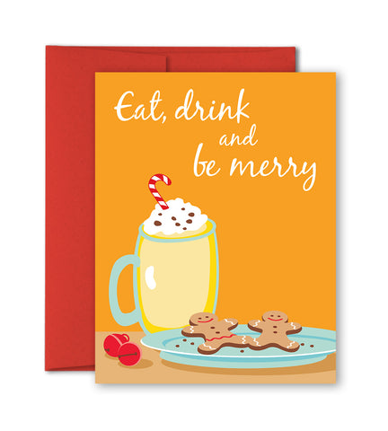 Christmas Card - Eat, Drink And Be Merry
