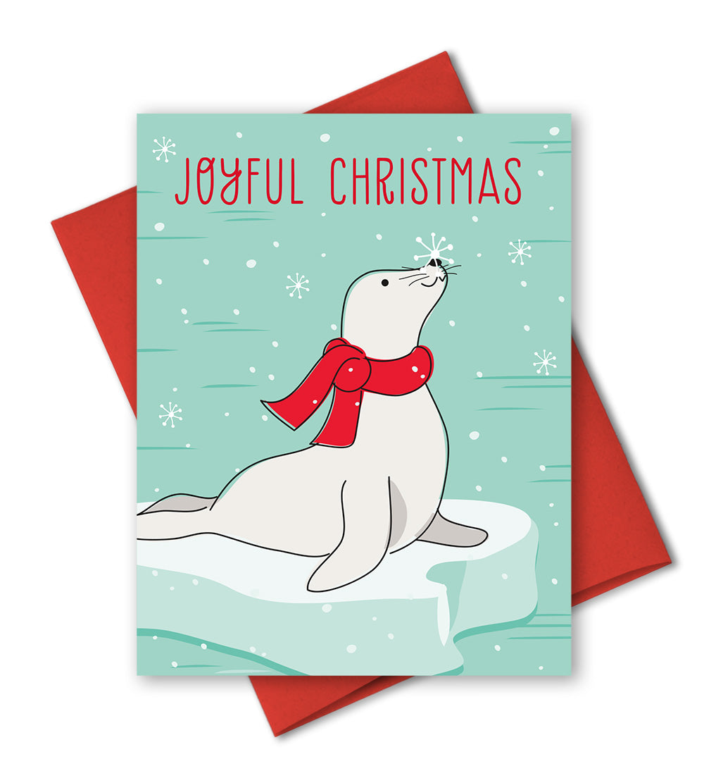 Holiday Card - Joyful Christmas - Christmas Seal by The Imagination Spot