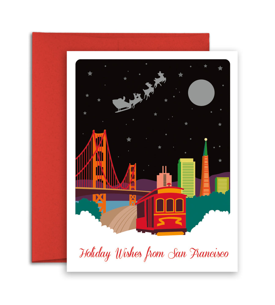 San Francisco city Christmas Card