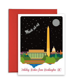 Washington DC Christmas Card