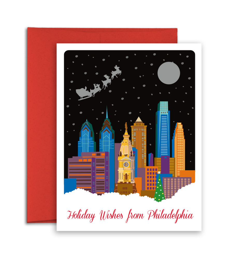 Philadelphia city Christmas Card