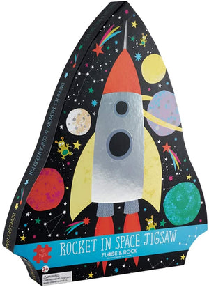 Jigsaw Puzzle 40 piece - Rocket In Space in a shaped box