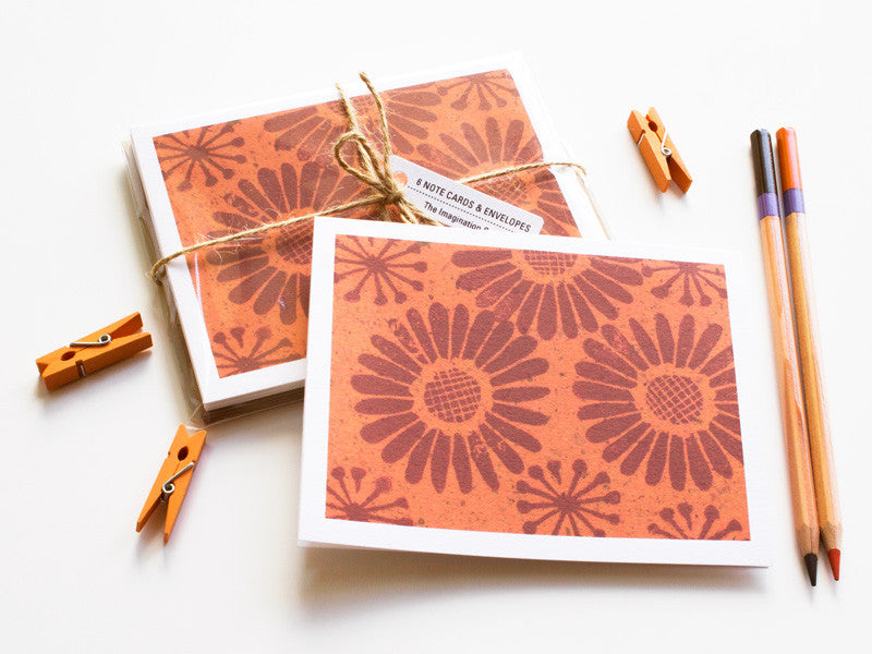 Note Card Set - Floral Fun - Handmade Cards - The Imagination Spot - 1