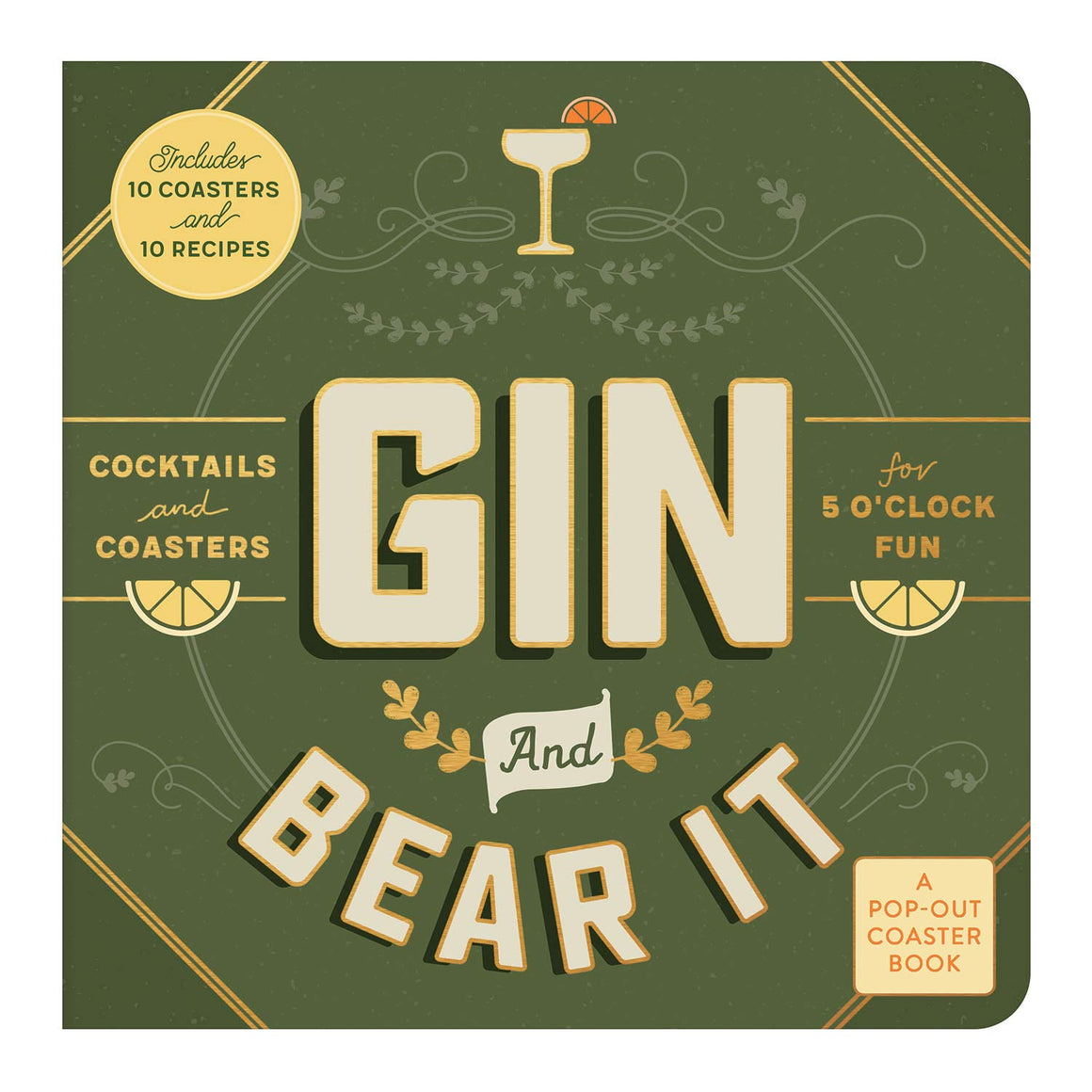 Coasters Pop-out Book - Gin & Bear it
