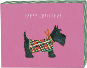 Scottie Happy Christmas Card - Petit Holiday Card