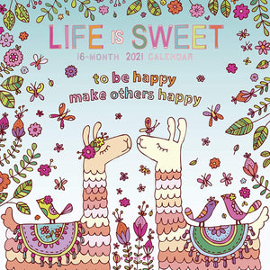 Life Is Sweet - 2021 Large Wall Calendar
