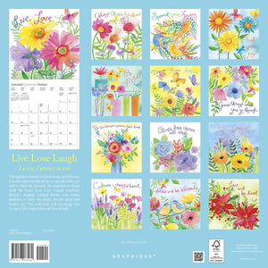 Live Love Laugh - 2021 Large Wall Calendar
