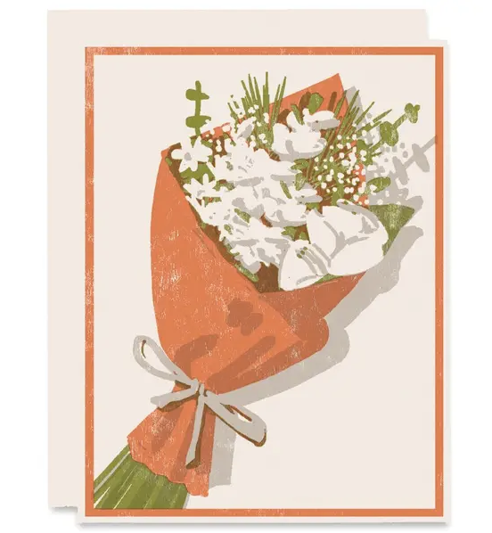 Thinking Of You Card - Floral Bouquet