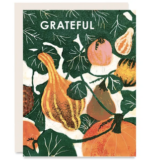 Grateful Gourds - Thank You Card - Fall Card