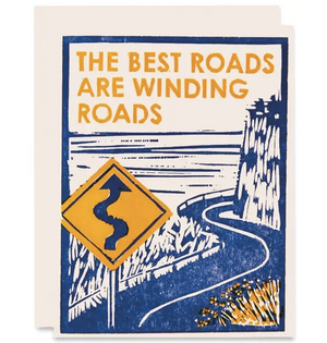 Inspirational Thinking Of You Card - Winding Roads