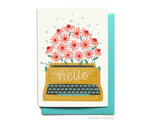 Hello Card - Typewriter