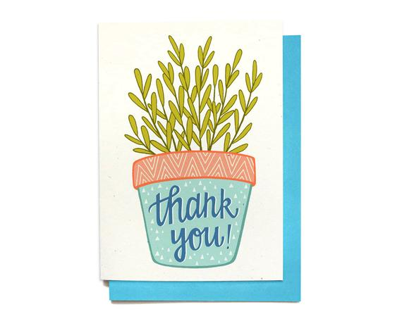 Thank You Card - Houseplant