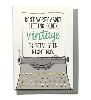 Vintage Birthday Card - Greeting Card
