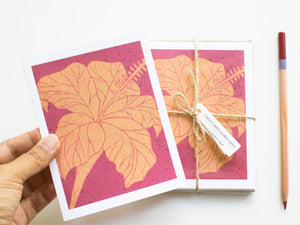 Hibiscus Note Card Set - Floral Cards - Handmade Cards - The Imagination Spot - 3
