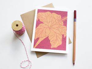 Hibiscus Note Card Set - Floral Cards - Handmade Cards - The Imagination Spot - 4