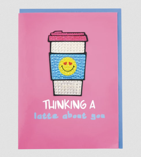 Thinking A Latte Decal Greeting Card