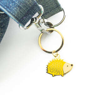 Hedgehog Enamel Keychain - The Imagination Spot
