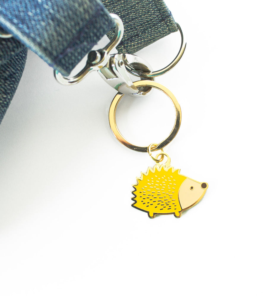 Hedgehog Keychain - Hard enamel key chain