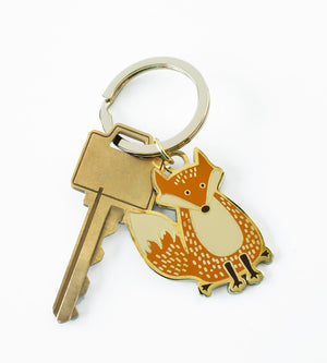 Fox hard enamel keychain - The Imagination Spot
