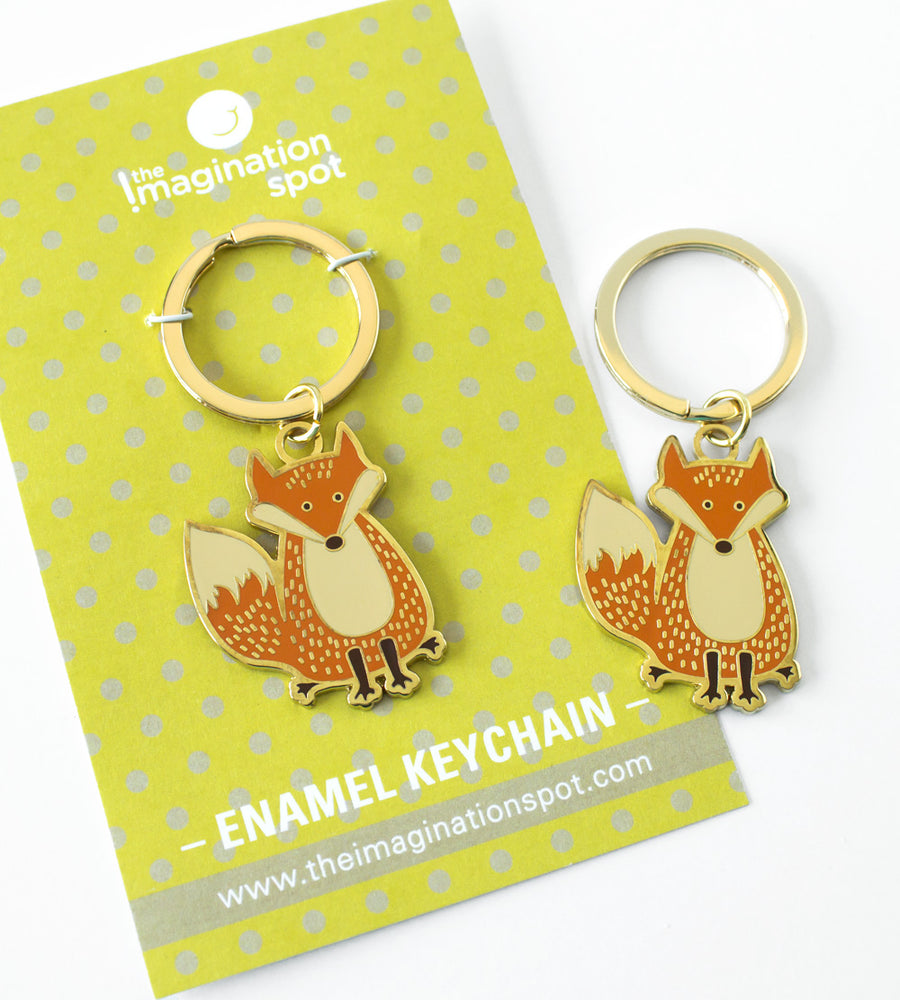 Fox enamel key chain - The Imagination Spot